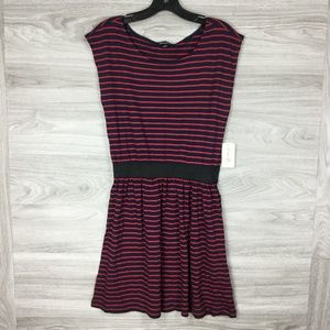 Forever 21 Striped Elastic Waist Mini Dress